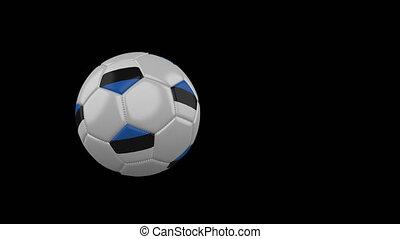 football, transparent, drapeau estonie, fond, balle, voler, canal, alpha