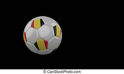 football, transparent, fond, drapeau, balle, belgique, voler, canal, alpha
