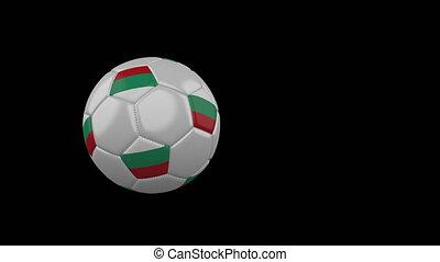 football, transparent, fond, drapeau, balle, bulgarie, voler, canal, alpha