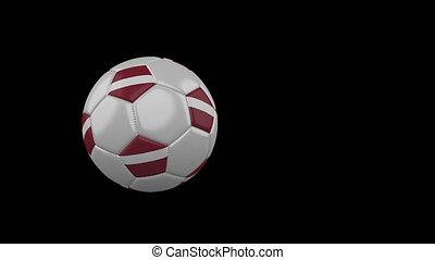 football, transparent, fond, drapeau, balle, lettonie, voler, canal, alpha