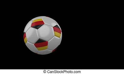 football, transparent, fond, drapeau, balle, voler, allemagne, canal, alpha
