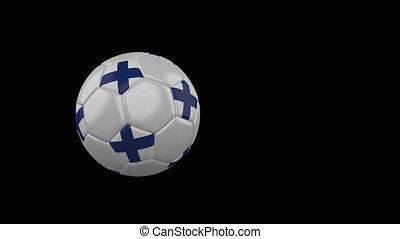 football, transparent, fond, drapeau, balle, voler, finlande, canal alpha