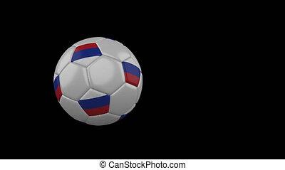 football, transparent, fond, drapeau, russie, balle, voler, canal, alpha