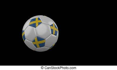 football, transparent, suède, fond, drapeau, balle, voler, canal, alpha