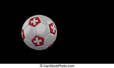 football, transparent, suisse, fond, drapeau, balle, voler, canal, alpha