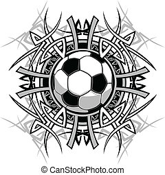 football, tribal, graphique, image