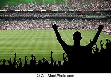 football, ventilateur, célébration