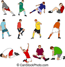 footballeurs, sport, -, 01, gens