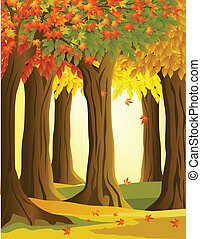 forêt automne, fond