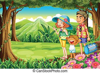 forêt, famille