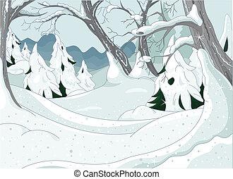 forêt, hiver