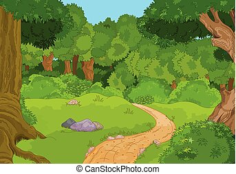forêt, paysage