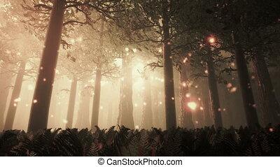 forêt, profond, 6