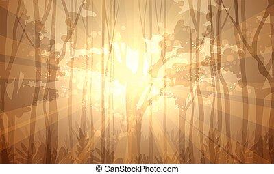 forêt, profond