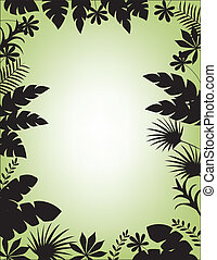 forêt, silhouette