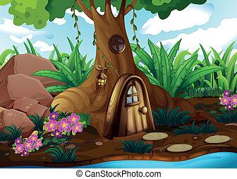 forêt, treehouse