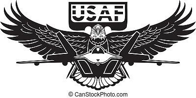 force, -, nous, air, militaire, design.