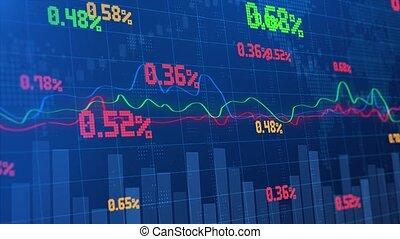 forex, backgrounds., diagramme, ou, marché, commerce, stockage, graph., financier