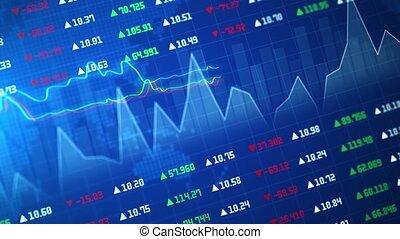 forex, diagramme, ou, investment., marché, numérique, commerce, stockage, graphique, financier, suitable, bougeoir