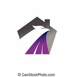 formé, phénix, maison, logo