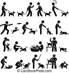 formation, chien, pictogramme