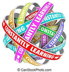formation, constamment, croissance, apprentissage, continuel, education