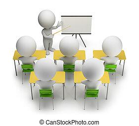 formation, gens, -, cours, petit, 3d