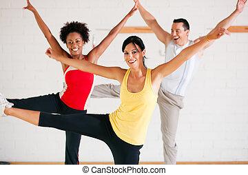 formation, gymnase, aérobic