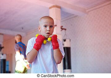 formation, gymnase, boxe