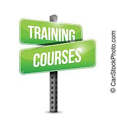 formation, illustration, signe, cours, conception, route