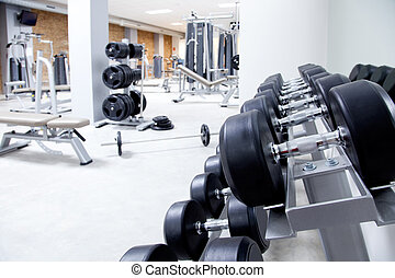 formation, poids, club, équipement salle gymnastique, fitness