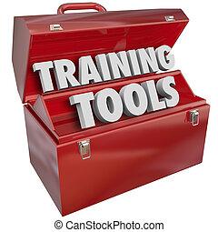formation, reussite, techniques, apprentissage, nouveau, boîte outils, outils, rouges