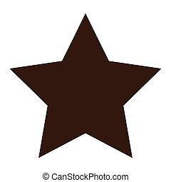 forme, étoile, icône