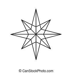 forme étoile, symbole., contour
