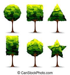 forme, arbre, géométrique