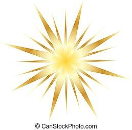 forme, blanc, étoile, isolé, fond