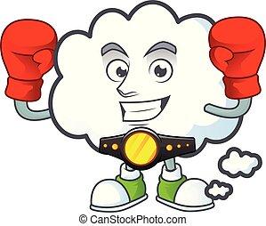 forme., boxe, bulle, mascotte, dessin animé, nuage