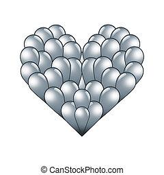 forme coeur, lamelle