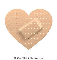 forme coeur, plâtre