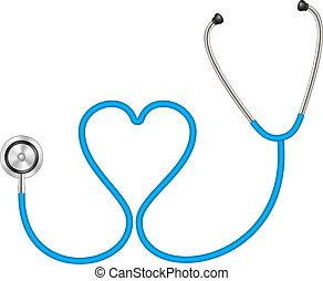 forme coeur, stéthoscope