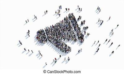 forme, gens, orateur, signe