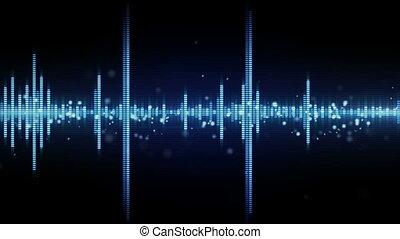 forme onde, audio, seamless, boucle, compensateur