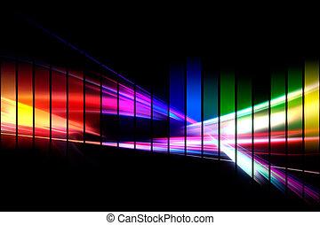 forme onde, graphique, audio