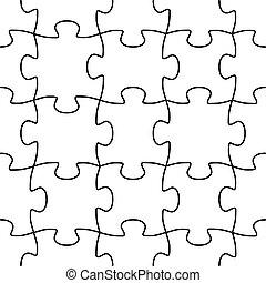 forme, vecteur, puzzle, seamless