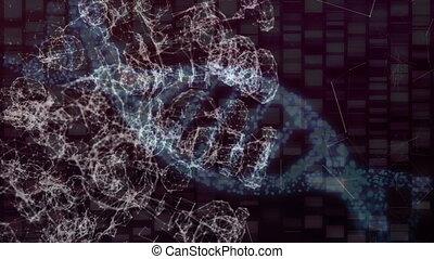 former, connexions, formes, noir, réseau, fond, contre, différent