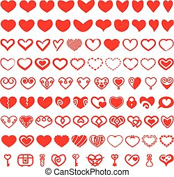 formes, coeur, ensemble