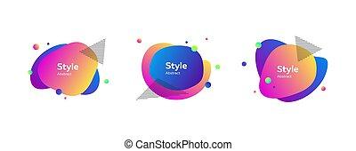 formes, multi-coloré, résumé, clair
