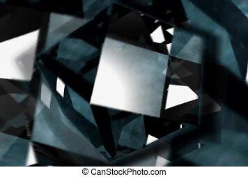 formes, pulsing, rotation, noir, blanc, géométrique