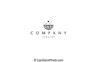 formulaire, feuilles, résumé, bowl., image, logo, vecteur