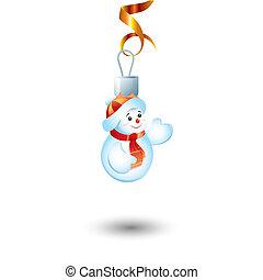 formulaire, illustration, jouet, snowball., vecteur, nouvelle année